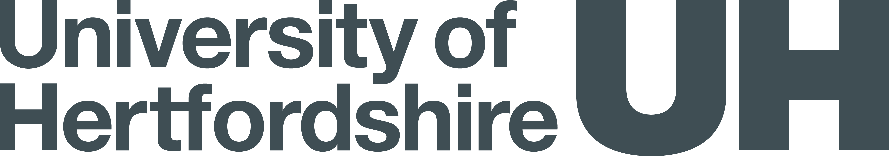 "logo with text ""University of Hertfordshire UH"""